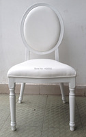 White Upholstered Aluminum Hotel Wedding Chair LQ L9999