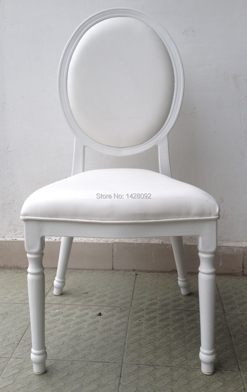 White Upholstered Aluminum Hotel Wedding Chair LQ-L9999