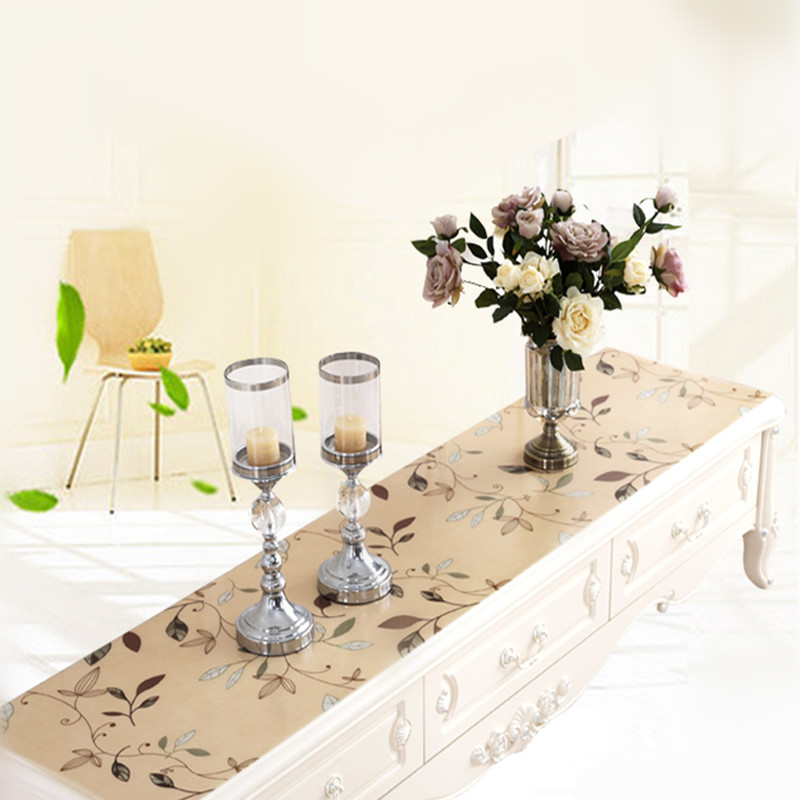 NewTV Cabinet Cover Flower TV Cabinet Table Cover With Plastic Material  High Quality PVC Table Cloth