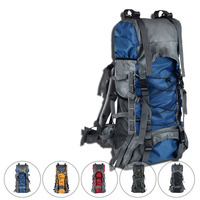 60L Outdoors double shoulder exercise bag Waterproof Oxford mountaineering bag Hiking Backpack High capacity Bally Duffle