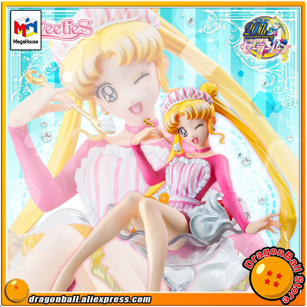 Japanese Anime Pretty Guardian Sailor Moon Original MegaHouse Sweeties Series Action Figure - Tsukino Usagi