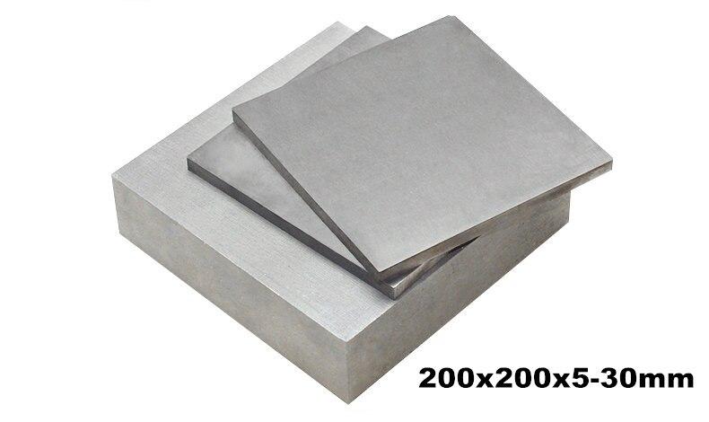 1 pièces 200x200mmx5-30mm épaisseur 5-30mm TC4 Ti feuille Ti plaque titane bloc Grade 5 plaque titane Gr.5 gr5 industrie ou bricolage