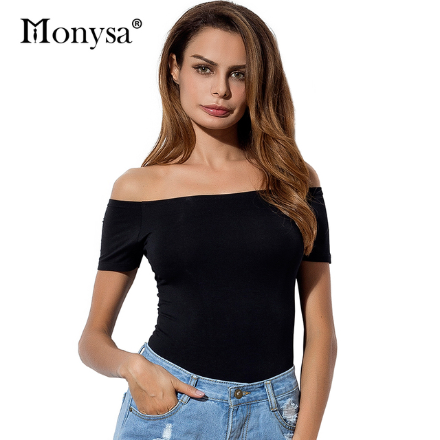 bd327d5a795159 Sexy Off Shoulder Tops Women Summer Short Sleeve Cotton T Shirt Women 2018  New Arrivals Fashion