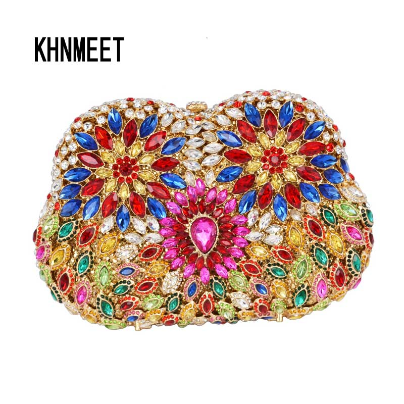 Blue Fuschia Crystal Evening Bag Multicolor Diamante Clutches Bag Wedding Bridesmaid Handbag Handcraft Studded Clutch Bag SC503 lime crime подарочный набор миниатюр velvetines fuschia цвет fuschia variant hex name f354dc