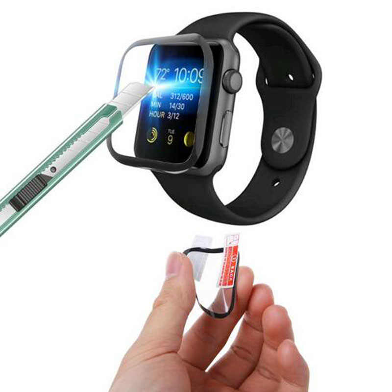 3D Curved PET (Not Glass) Clear Full Cover Protective Film For Apple Watch Series 1/2/3/4/5 38mm 42mm 40mm 44mm Screen Protector
