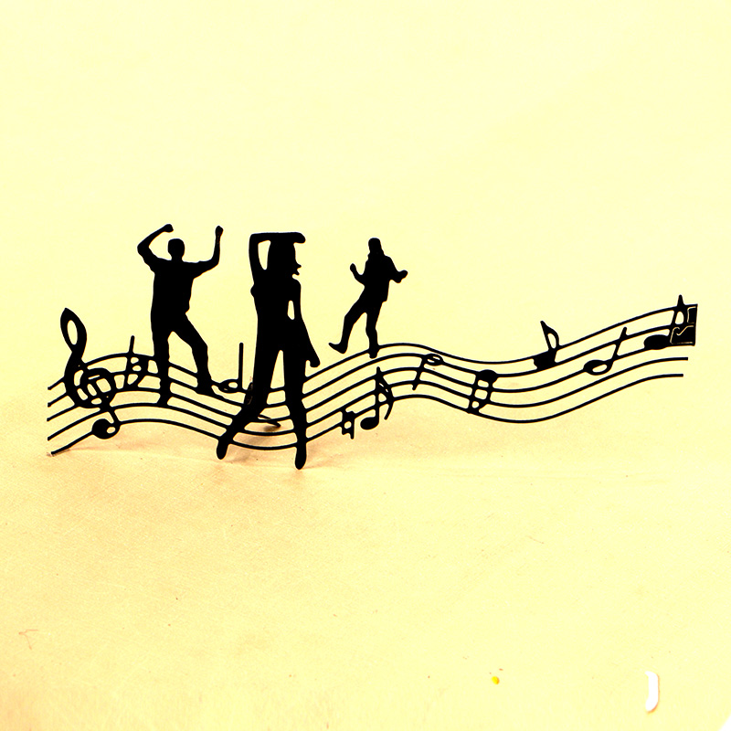 DUOFEN METAL CUTTING DIES 130268 Music youth party stencil for DIY papercraft projects Scrapbook Paper Album greeting cards