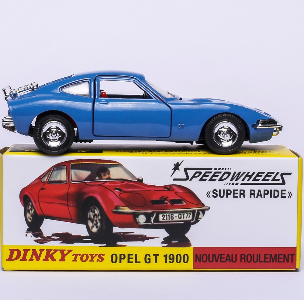 Dinky Toys Atlas 1421 1/43 OPEL GT 1900 SPEEDWHEELS Alloy Diecast Car Model