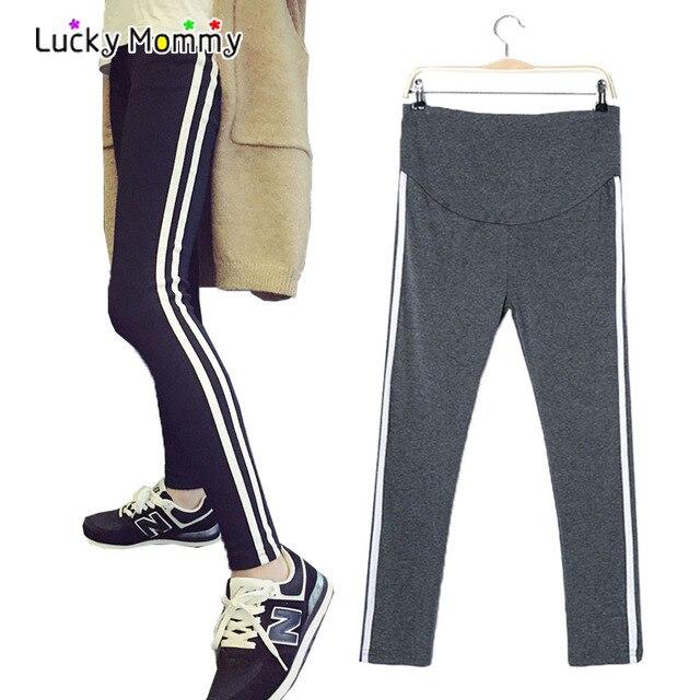 9fe910dc7c697 Plus Size Maternity Leggings for Pregnant Women Stripe Legging Trousers for Pregnancy  Women's Slim Sports Pants