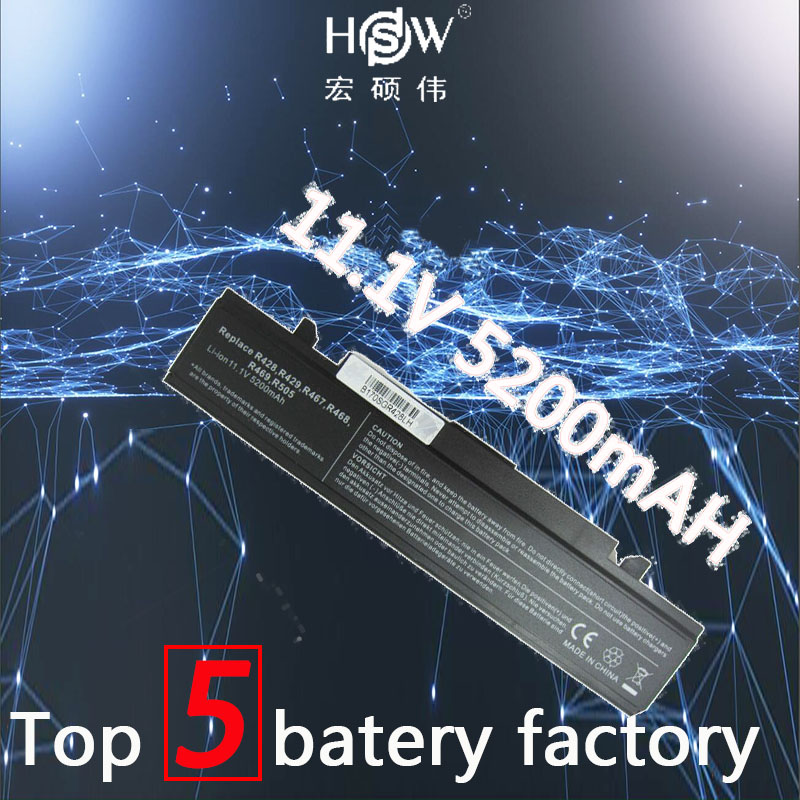 HSW Laptop Battery For Samsung R423 R428 R480 350V5C 365E5C Battery NP350V5C NP350E5C E257 SA20 SA21 AA-PB9NC6B Laptop Battery