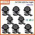 8 шт./лот Led Par Light 54*3 Вт алюминиевый корпус высокого качества светодиодный сценический Свет Волшебный сценический эффект освещения для DJ сце...