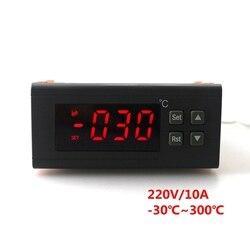 RC-114M 220 V/10A-30 ~ 300C cyfrowy regulator temperatury termostat regulator wyjście przekaźnikowe z czujnikiem temperatury