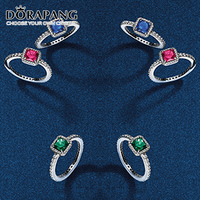 DORAPANG 100% טבעת כסף סטרלינג 925 אלגנטיות נצחית דה פלטה anillos joias fit מתנת חג המולד תכשיטי DIY סגנון מקורי
