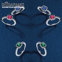 Elegância Intemporal DORAPANG 100% 925 Prata esterlina Anel joias anillos de plata Presente de Natal fit Original Estilo DIY Jóias