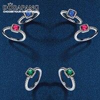 Elegancia DORAPANG 100% Plata de ley 925 anillos de plata Anillo joias Regalo de Navidad fit Original Estilo de La Joyería DIY