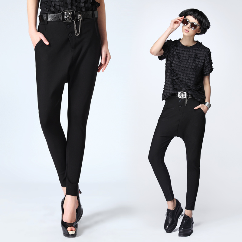 2017 Newly Arrived Street Clothing Pantalon Femme Fashion Women Pants Autumn Black Casual Pants Harem Pants Plus Size Sweatpants