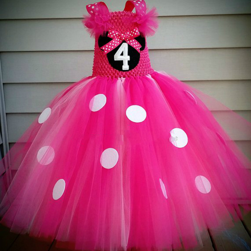 POSH DREAM Minnie Cartoon Princess Kids Girls Tutu Dress Hot Pink Cartoon Mouse Children Birthday Party Dress Kids Girls ClothesPOSH DREAM Minnie Cartoon Princess Kids Girls Tutu Dress Hot Pink Cartoon Mouse Children Birthday Party Dress Kids Girls Clothes
