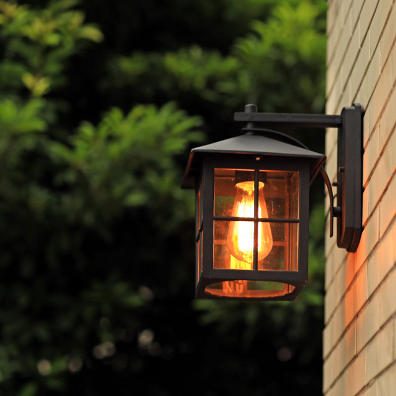 Wall lamp american country style simple modern waterproof outdoor wall lamp american country style simple modern waterproof outdoor lamps retro nostalgia warehouse wall light in wall lamps from lights lighting on aloadofball Gallery