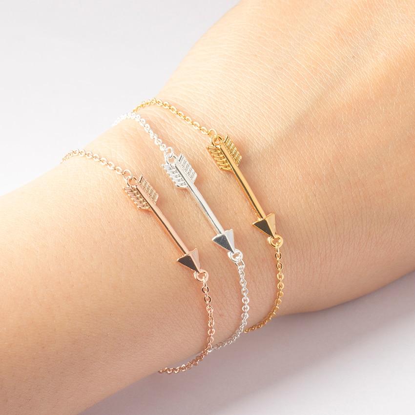 Zierliche seitlich Hunger Game Pfeil Armband Vintage Schmuck Pulseira Feminina Freundschaft Liebhaber Charme Armbänder & Armreifen