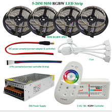 DC12V LED Light RGBW Waterproof/Non-waterproof SMD 5050 Led Strip Flexible Tape+2.4G RF Remote Controller+Power adapter Kit