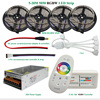 DC12V LED Light RGBW IP65 Waterproof SMD 5050 Led Strip Flexible Tape + 2.4G RF Remote Controller + Power adapter Kit