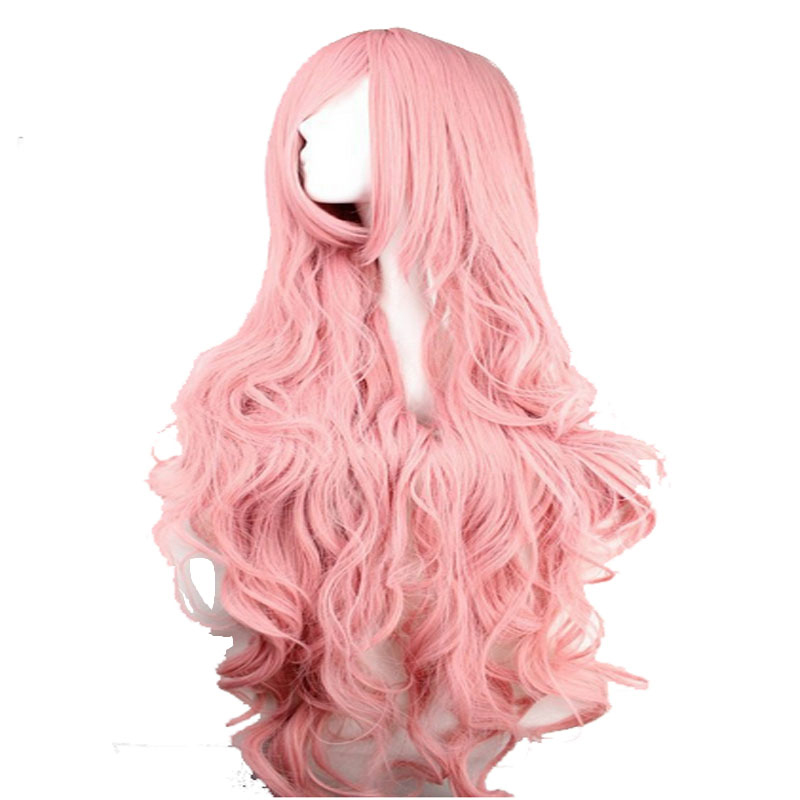 HAIRJOY Megurine Luka Cosplay Wig Synthetic Hair Woman Long Wavy Costume Party Wigs 2