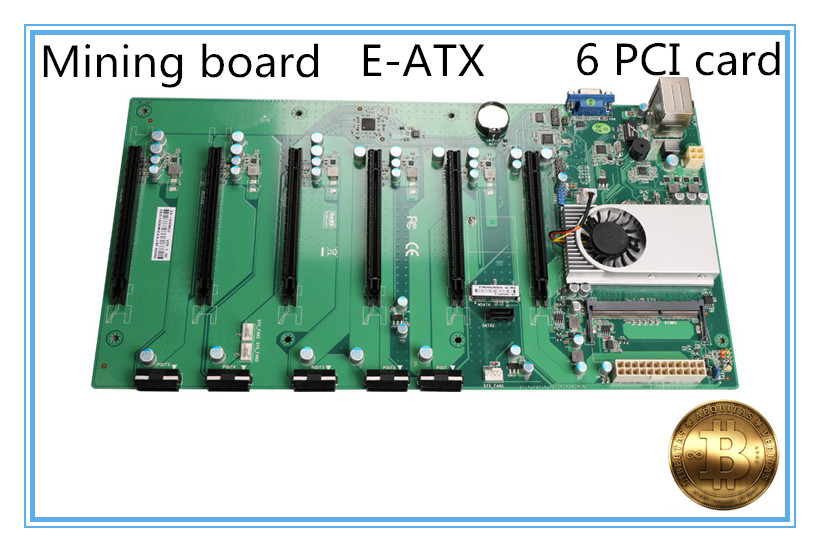 new Mining motherboard D1800 with cpu ddr3 6 card motherboard mainboardnew Mining motherboard D1800 with cpu ddr3 6 card motherboard mainboard