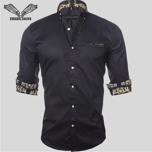 Мужчины Рубашка Сплошной Цвет Хлопка Brand Clothing Casual Slim Fit Бизнес Платье 2017 Новое Прибытие Camisa Социальной Masculina 5XL N1149