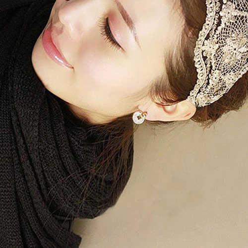 11.11 フルラインストーン銅コイン耳のスタッドのイヤリング女性の友人のギフト宮殿スタイル耳飾りファッションジュエリーイヤリング