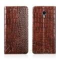 """Crocodile grain genuine leather case para meizu m3 max/meilan max 6.0 """"Slot Para Cartão de Telefone Celular de luxo Capa & Ímã Invisível 1"""