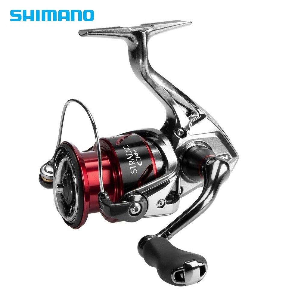 Shimano Stradic CI4 + 1000HG 2500HG C3000HG 4000XG giro 6,2: 1 Alta relación de engranajes 6 + 1BB HAGANE Gear pesca de agua salada