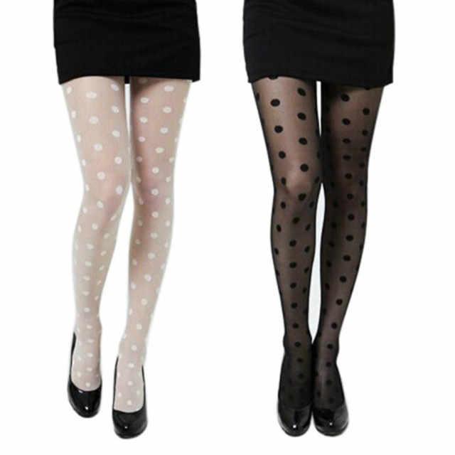 0b370df91 ... Sexy Lingerie Women Sheer Lace Big Dot Pantyhose Stocking Tights Dots  Stocking Women s Thigh High Knee ...