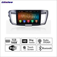 Liislee For Honda For accord 2013~2017 Car Radio GPS Audio Video Multimedia Player WiIFi DVR Navigation Android System No CD DVD