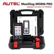 autel MaxiDiag MD806 Pro автомобильный диагностический инструмент Автомобильный сканер OBD2 инструменты автоматического сканирования код считыватель двигателя тест PK MD808 MD802