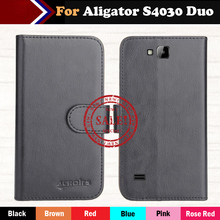 Hot!! Aligator S4030 Duo Case 2016 New 6 Colors Luxury Ultra-thin Leather Exclusive 100% Special Phone Cover Cases+Tracking