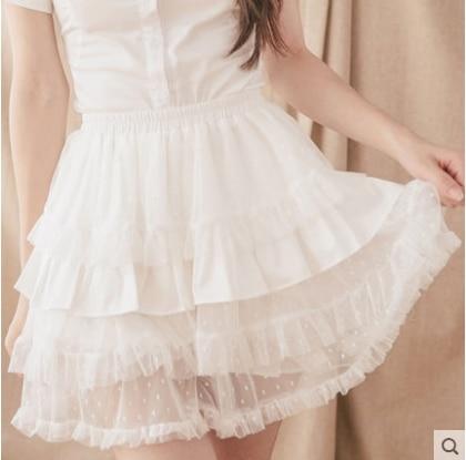 Princess sweet lolita shorts Dolly Delly original soft sister wind gauze cotton pumpkin body rendering Culottes