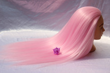 Hair Training Head Pink Hairdressing Mannequin for Professional Style Salon
