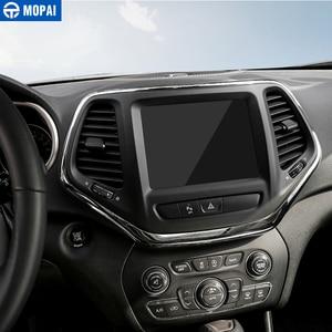 Image 4 - MOPAI ABS Автомобильная внутренняя панель навигационная панель GPS декоративная рамка наклейки для Jeep Cherokee 2014 Автомобильный Стайлинг