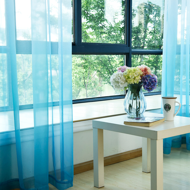 Singolo Pannelli Tulle Tende Per La Cucina Stampato Camera Dei Bambini Decorazione Finestra a Schermo Stile Nordico Organza Tende