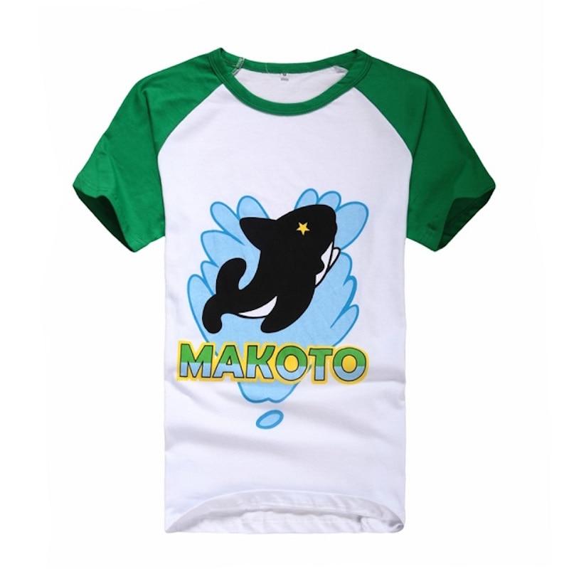 c0868e4780d851 Śliczne Unicorn Darmo! t shirt Haruka/Makoto tshirt z krótkim rękawem  t-shirt męskie ubrania anime cosplay kostium lato Topy i Koszulki