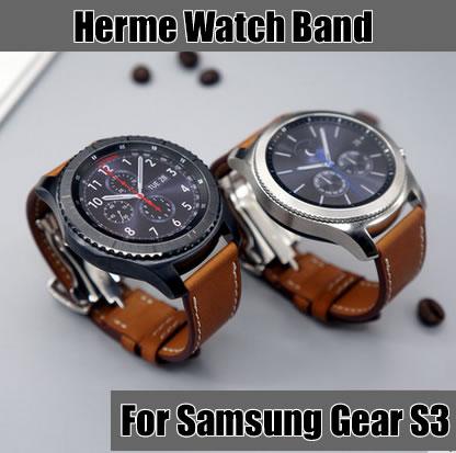 22 mm polsband voor Samsung Gear S3 klassieke band lederen band voor - Horloge accessoires