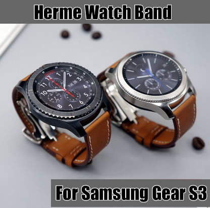 Galleria fotografica Samsung Gear S3 Classic Frontier 22mm Genuine Leather band strap with Free Tools Best Quality