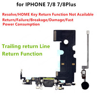 Replacement Parts for iPhone 7 8 Plus Charger Flex Cable with Home Return Key Function Repair Fingerprint Fix Problem
