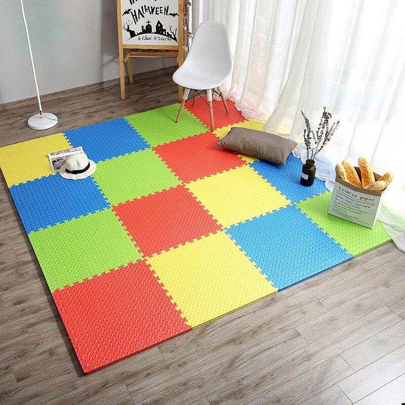 JCC feuille motif Puzzle EVA mousse bébé tapis de jeu/enfants tapis tapis de verrouillage exercice plancher pour enfants carreaux 60*60*1.2 cm