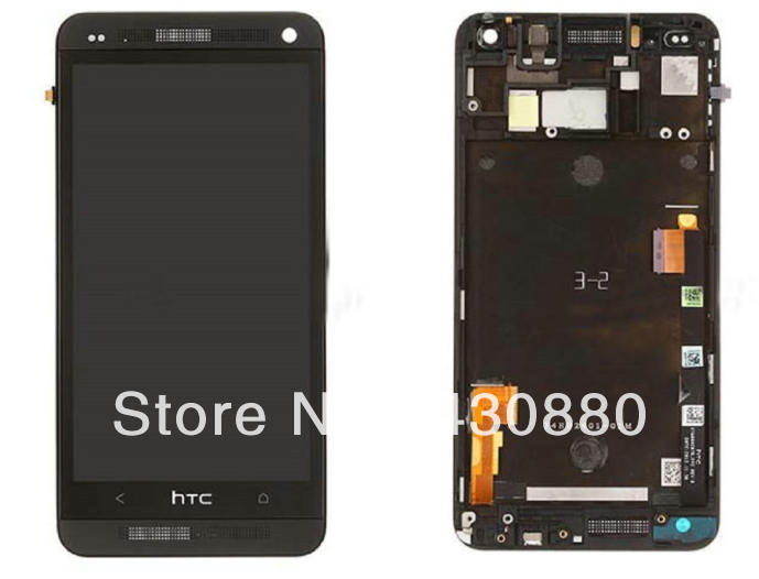 2013 the newest original ONE M7 LCD and touch Assembly for HTC complete display with frame black color