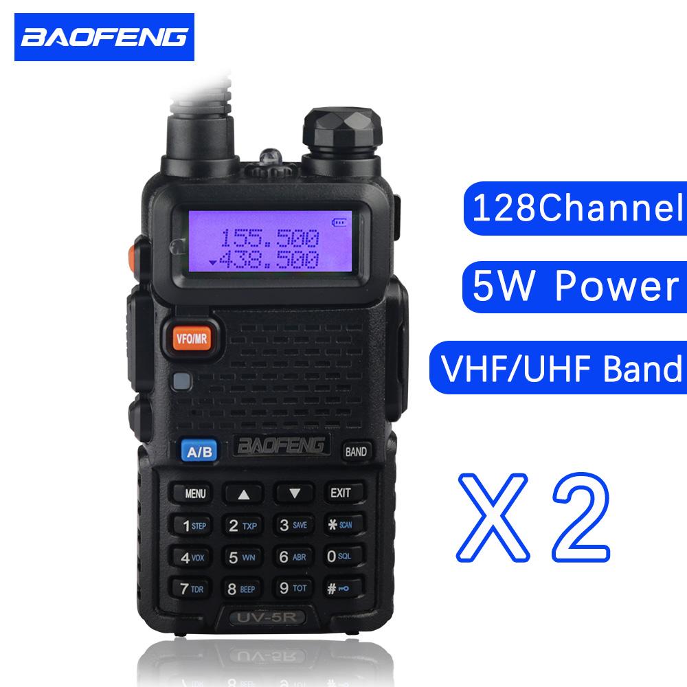 2 PCS baofeng UV 5R dual band font b walkie b font font b talkie b