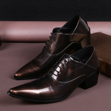 British mens shoes high heels leather brown pointed toe dress shoes lace up oxford shoes for men classic office  shoe lasts