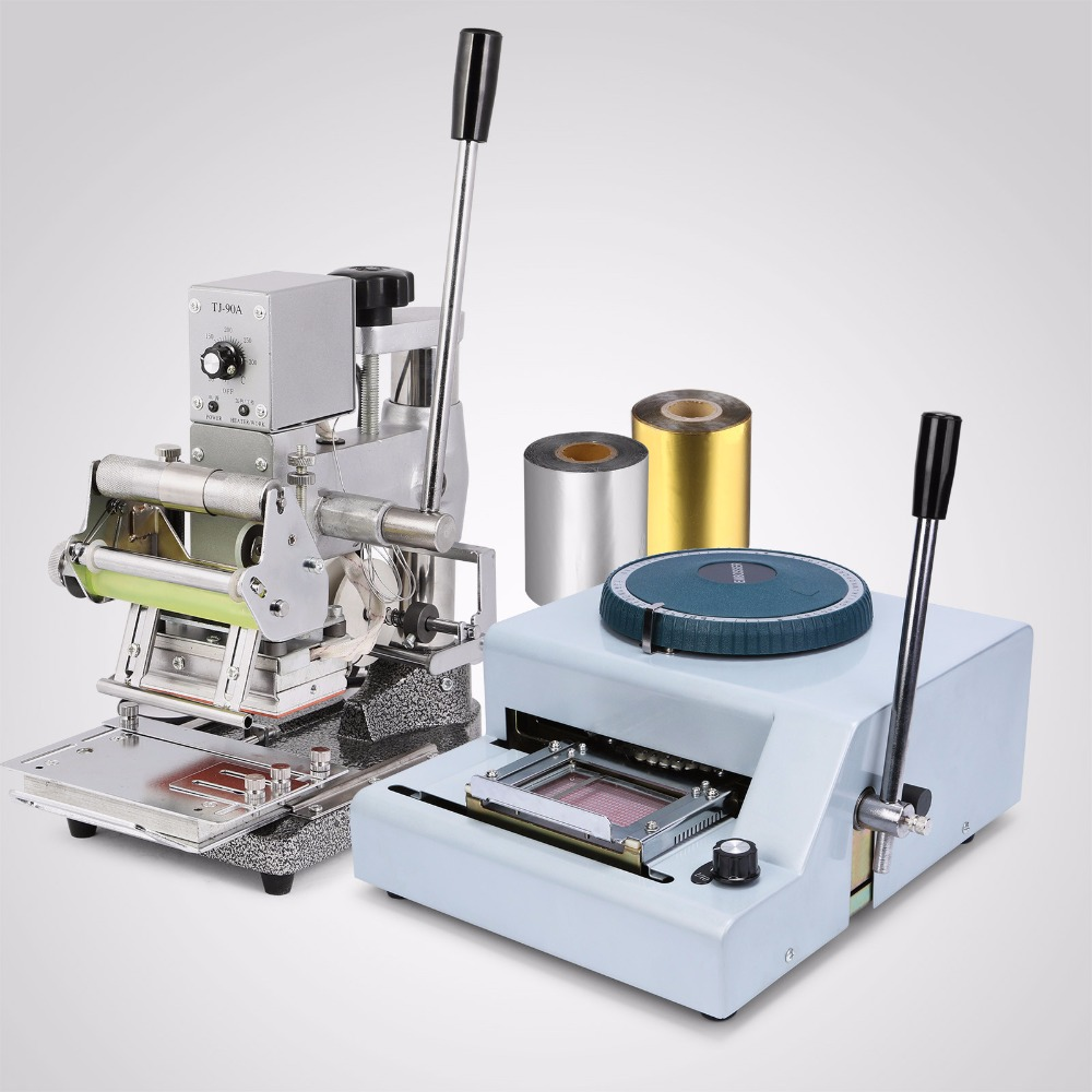 PVC Card Making 68 CHARACTER EMBOSSER HOT FOIL STAMPING MACHINE Updated Embossing Embosser & Hot Foil Stamping Tipper Machine