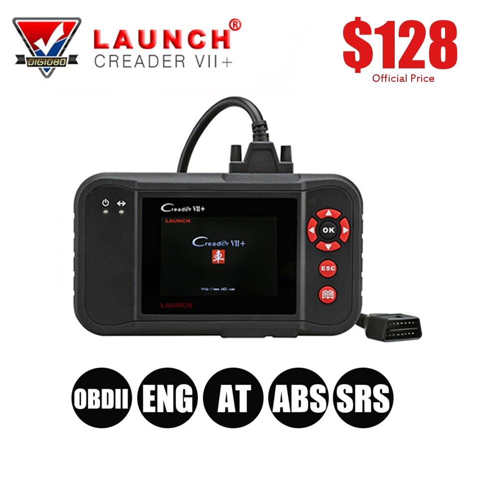 LAUNCH X431 Creader VII+ OBDII EOBD Auto Code Reader Engine/Transmission/ABS/Airbag System Free Online Update Creader VII Plus