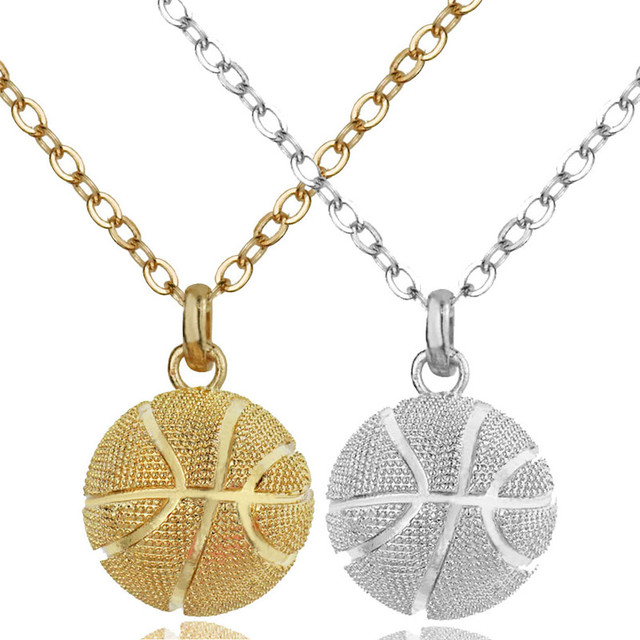 3d basketball pendant necklace champagne gold color charms necklace 3d basketball pendant necklace champagne gold color charms necklace women sport team jewelry mozeypictures Gallery