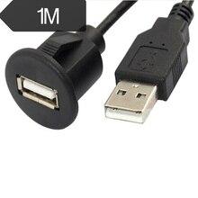 1 м Автомобильная приборная панель с креплением папа на гнездо USB 2,0 панель расширения кабеля
